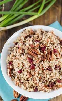 Rice Pilaf with toasted pecans and dried cranberries. Cheesy Broccoli Rice Casserole, Casserole Dishes, Casserole Recipes, Healthy Rice, Healthy Recipes, Rice Recipes, Recipies, Rice Dishes, Food Dishes