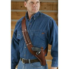 "Slap LEATHER! Classic Old West Styles® Shoulder Holster S&W® 4"" N-Frame Holster with .44 / .45 / .480 Loops"