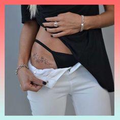 Model Tattoos, Diskrete Tattoos, Badass Tattoos, Line Tattoos, Body Art Tattoos, Pelvic Tattoos, Neck Tattoos, Nature Tattoos, Sleeve Tattoos