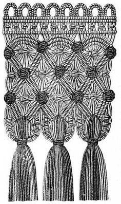 FIG. 578. FRINGE WITH SHELL KNOTS.