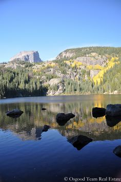 One of the beautiful lakes located in Rocky Mountain National Park in Estes Park, Colorado.