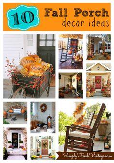 Simply Seasonal ... Fall Comes to the Porch - Simply Fresh Vintage