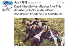 DAY 6 // If you need a reason to stan them, Jae and his hashtags should at least get you in the door