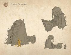 How to train your Dragon 2 design. More info on www.nicolasweis.com/blog