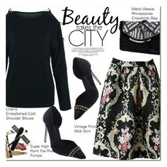 """""""Beauty takes the City"""" by oshint ❤ liked on Polyvore featuring vintage"""