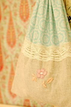 Laundry bag with embroidery | Flickr - Photo Sharing!