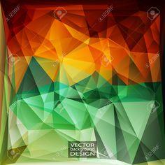 Multicolor (rojo, Verde, Amarillo) Plantillas De Diseño. Fondo Geométrico Triangular Abstracta Moderna Del Vector. Ilustraciones Vectoriales, Clip Art Vectorizado Libre De Derechos. Pic 36111226.