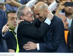 'He is the best leader this team could have': Zidane gets vote of confidence from Real Madrid president Real Madrid Manager, Zinedine Zidane, The Right Man, Bilbao, Presidents, Confidence, Barcelona, Athletic, Couple Photos