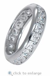 Ziamond CZ Asscher Channel Set Eternity Band in 14k WG.  (.25 carat each stone)  $1295