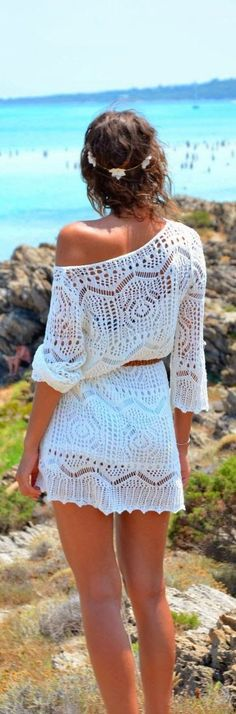 FASHION AND STYLE: White lace mini dress