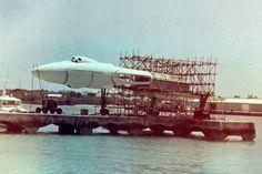 Rare Photographs Show Vulcan Bomber Mock-up from Bond Film Thunderball