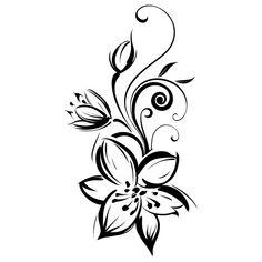 modèle tatouage Fleur de monoi - #327741