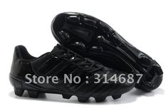 Dropshipping wholesale Limited Leather soccer shoes,football shoes,soccer boots,soccer cleats,football shoes total black. on AliExpress.com. $66.00