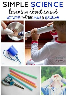 Simple Sound Science Experiments for Kids. Great activities for a mini-sound science unit. Have students explore with many different sounds. Sound Science, Science Activities For Kids, Kindergarten Science, Elementary Science, Physical Science, Teaching Science, Science For Kids, Science Projects, Science Ideas