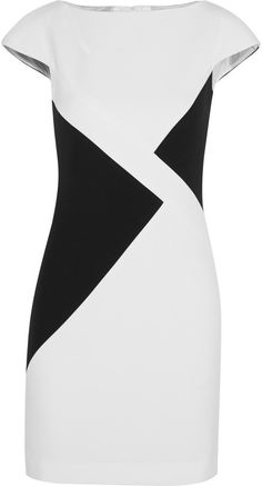 Versace Collection Paneled stretch-crepe dress