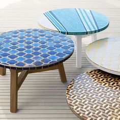 Add a little art to your space with the Mosaic Tiled Coffee Table. Its many tiles are carefully inlaid by hand onto an FSC®-certified hardwood base, for a unique look both indoors and out.