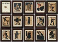 Liss Fine Art : William Nicholson - The Alphabet, circa 1898