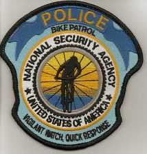 NSA National Security Agency Police  Washington DC Bike Patrol  patch