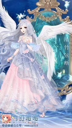 堆糖-美好生活研究所 Magna Anime, Manga Art, Anime Art, Anime Dress, Female Character Design, Cute Chibi, Anime Angel, Anime Fantasy, Anime Outfits