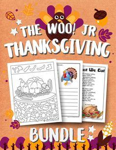 Thanksgiving Printable Kids Activities Bundle Math Coloring Worksheets, Teacher Worksheets, Preschool Worksheets, Printable Activities For Kids, Classroom Activities, Printable Banner, Printables, Party Poppers, Math Words