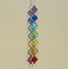 Chakra Suncatcher Stained Glass Suncatcher by RavensStainedGlass