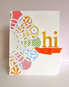Smaller scale patterns look festive in the trimmed spaces of a cut out template.