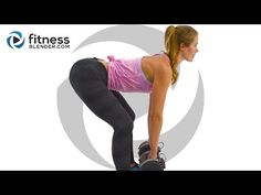 10 Minute Butt and Thigh Workout - Interval Strength Training Sweatfest - YouTube
