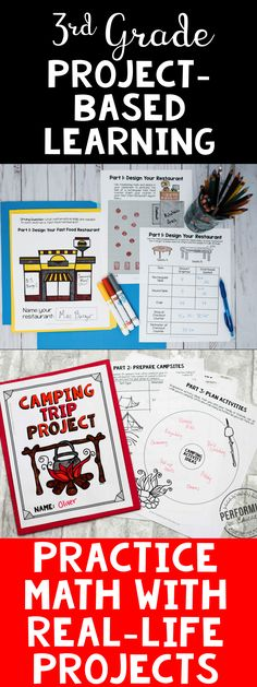 Check out this bundle of amazing Math project-based learning (PBL) activities for 3rd grade math! Great for all math standards. These projects will help your students practice area, graphing, multiplication, and more. Each project will get them out of their seats, happily practicing Math in a real-life situation! PBL is a great end of the year project as well.