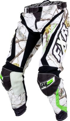 FXR Racing - 2015 MX Apparel - Realtree™Factory Ride Edition Pant - APHD Snow/Lime