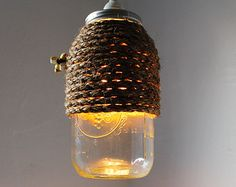 The Hive - Half Gallon Mason Jar Pendant Lamp