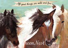 Cute wild horse print