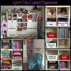 Toy Cabinet Organization with SilverLiningOrganizers.com