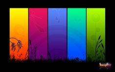 Rainbow Colours by ~leyah-lee on deviantART