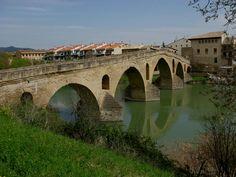 Puente de La Reina. One of my favorite towns while on my pilgrimage to Santiago de Compostela (The Way of Saint James)
