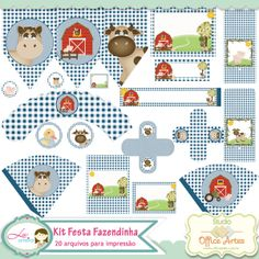 Kit Festa Fazendinha by Karina Urso e Lu Ifanger -  Boutique do Scrap
