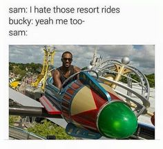 Sam and Bucky.... Omg Anthony Mackie at WDW