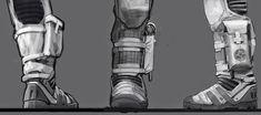 Film Sketchr: Wonderful INTERSTELLAR Spacesuit Concept Art by Romek Delimata