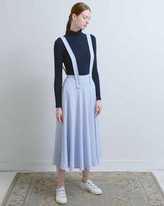 9b96b52508 Mr. Larkin Blue Shoulder Straps Cleo Skirt Shoulder Straps, Mid Length, A  Line