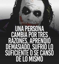 Autoayuda y Superacion Personal Motivational Phrases, Inspirational Quotes, Quotes En Espanol, Joker And Harley, Joker Batman, Harley Quinn, Joker Quotes, Spanish Quotes, Sentences