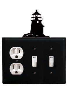 Lighthouse - Single Outlet and Double Switch Cover by Village Wrought Iron. $17.12. Lighthouse - Single Outlet and Double Switch CoverApprox. 6 1/2 In. W x 8 In. H Please allow 4 to 6 weeks for delivery.