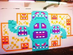 post it art Post It Art, 8 Bit, Visual Merchandising, Art Images, Pixel Art, School, Places, Party, Inspiration