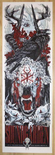 2013 Soundgarden - Wallingford Silkscreen Concert Poster by Rhys Cooper