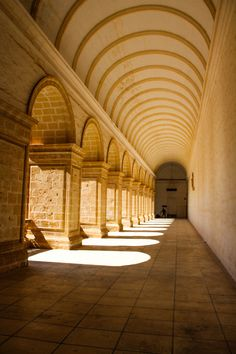 The cloister of the Dominican Monastery in Rabat on the way out of town, going to Buskett Gardens. Rabat is the suburb of Mdina, Malta.