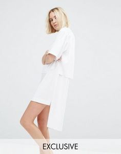 House Of Sunny Zip Front Shirt Dress. Asos....x