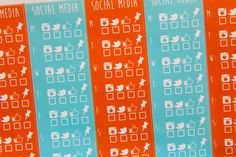 5 January Themed/Teal and Orange Social Media Stickers - K6 - Oh, Hello Stationery Co.   - 1