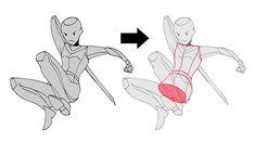 多彩なポージングを作ろう! 面を使ったポーズの描き方|イラストの描き方  どの面を見せるか決めよう 2/3    How to Draw Diverse Poses by Thinking About Surfaces | Illustration Tutorial  Choose which surface to show  2/3