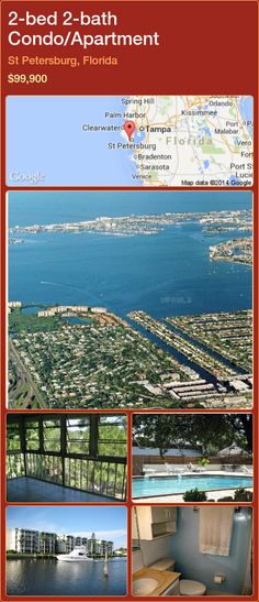 2-bed 2-bath Condo/Apartment in St Petersburg, Florida ►$99,900 #PropertyForSaleFlorida http://florida-magic.com/properties/9584-condo-apartment-for-sale-in-st-petersburg-florida-with-2-bedroom-2-bathroom