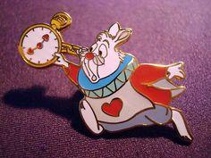 RARE 1999 Walt Disney World Alice in Wonderland White Rabbit Pin | eBay