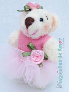 Mini Ursas bailarinas com 8cm