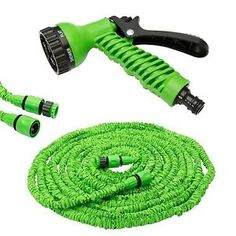 EXPANDABLE 50FT 75FT 100ft Garden Hose Pipe + Multifunction Spray Nozzle